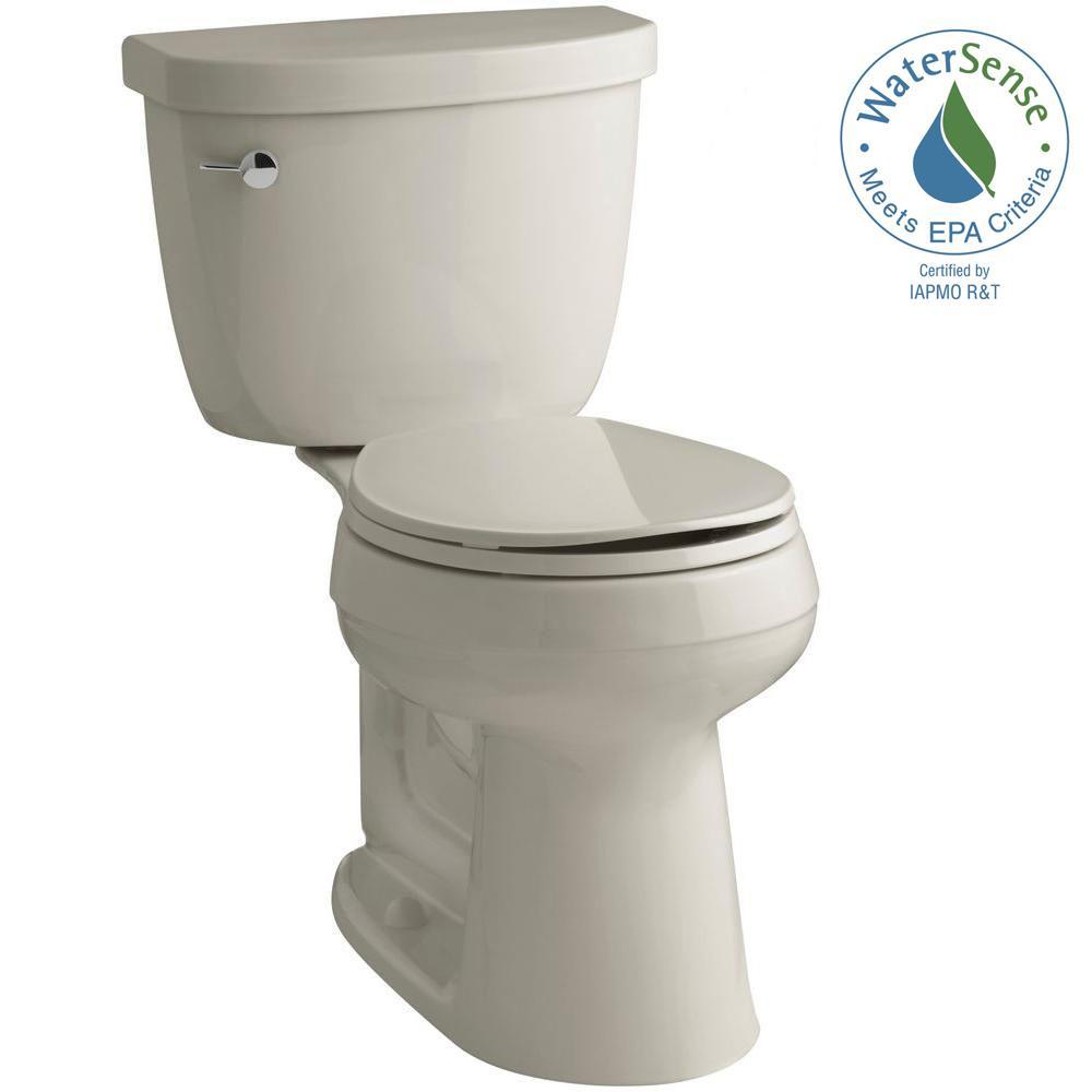 Cimarron Comfort Height 2-piece 1.28 GPF Round Toilet with AquaPiston Flush