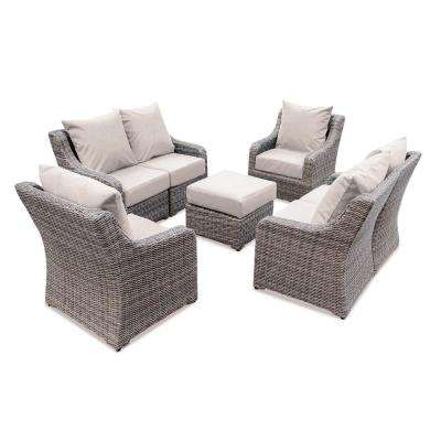Cherry Hill 7-Piece Patio Deep Seating Set with Cast Ash Cushions