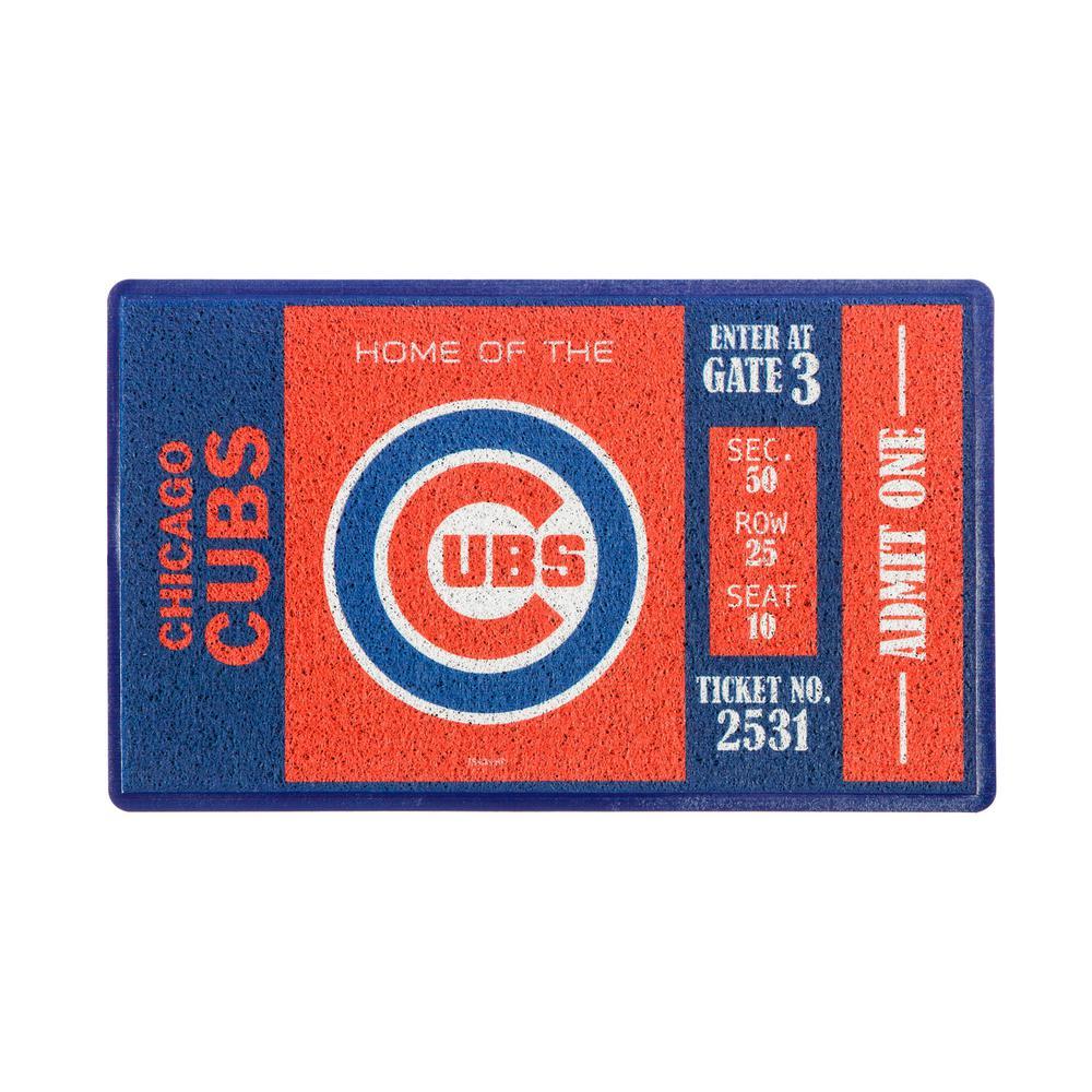 Chicago Cubs 30 in. x 18 in. Vinyl Indoor/Outdoor Turf Floor Mat