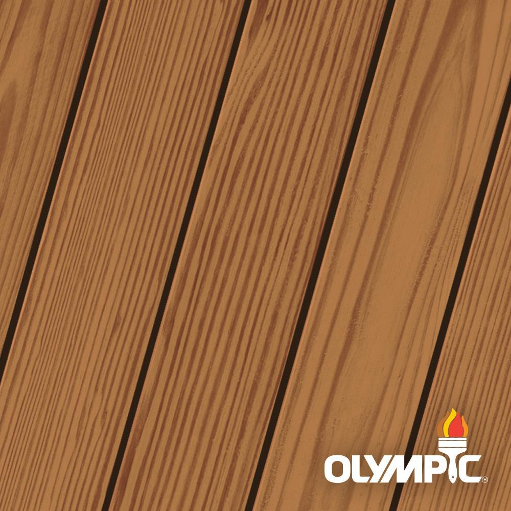 Olympic Elite 1 gal. Kona Brown Woodland Oil Transparent Advanced Exterior Stain and Sealant in One