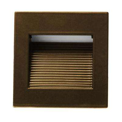 Square Oil-Rubbed Bronze Indoor and Outdoor Integrated LED Landscape Step Light