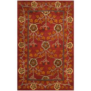 Heritage Red/Multi 4 ft. x 6 ft. Area Rug