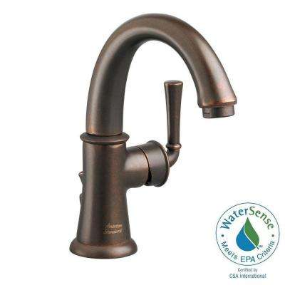 Portsmouth Monoblock Single Hole Single Handle Mid Arc Bathroom Faucet with Speed Connect Drain in Oil Rubbed Bronze