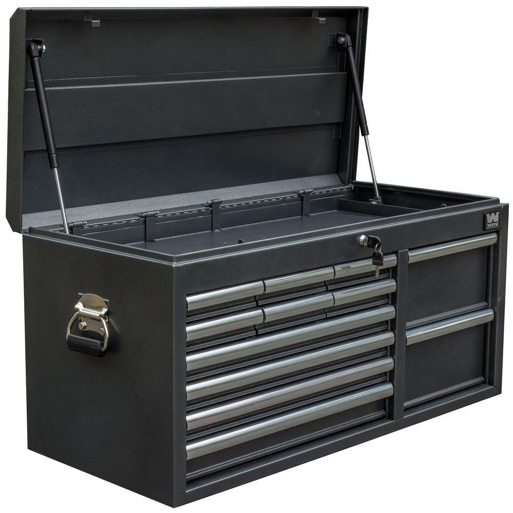 WEN 41 in. 12-Drawer Tool Chest, Powdercoat Black