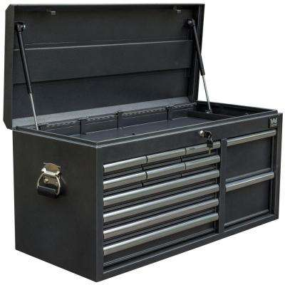 41 in. 12-Drawer Tool Chest, Powdercoat Black