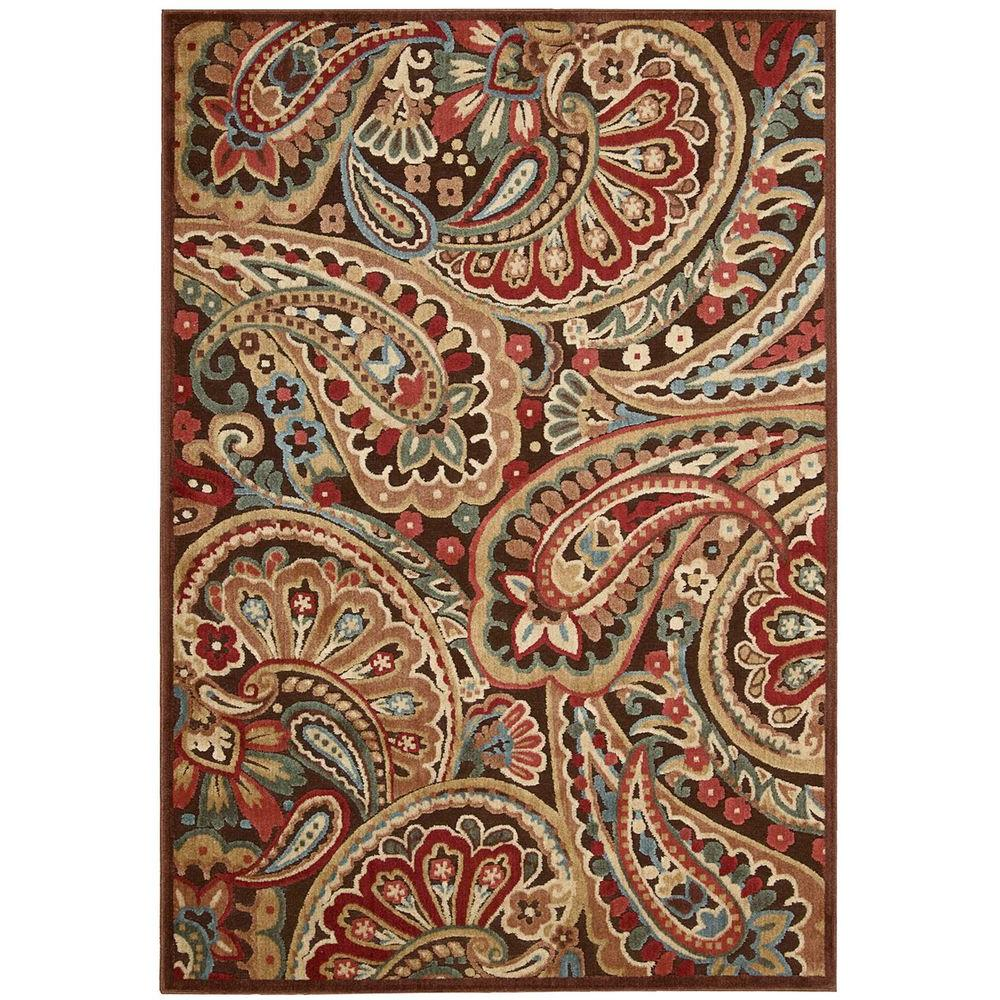 Nourison Graphic Illusions Multicolor 5 ft. 3 in. x 7 ft. 5 in. Area Rug