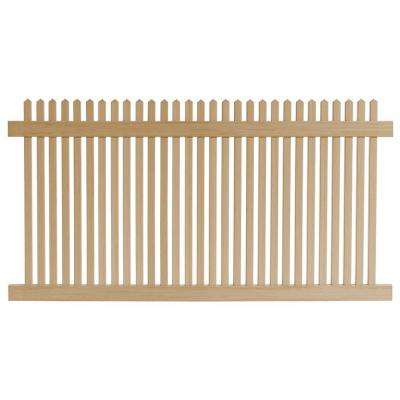 4 ft. H x 8 ft. W Cedar Grove Natural Cedar Vinyl Picket Fence Panel