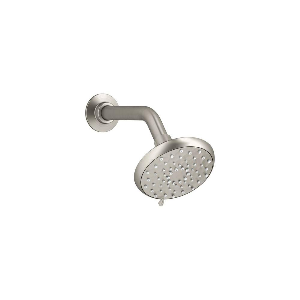 Awaken 3-Spray Multifunction 4 in. Fixed Shower Head in Brushed Nickel