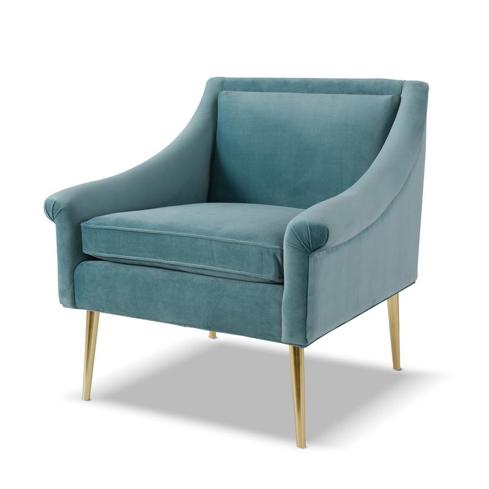 Sandy Wilson Home Eryk Arctic Blue Accent Chair