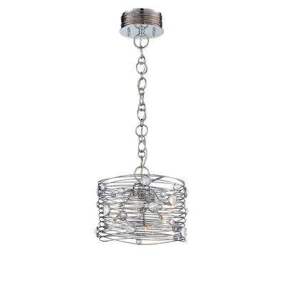 Corfo 6-Light Chrome and Clear Chandelier