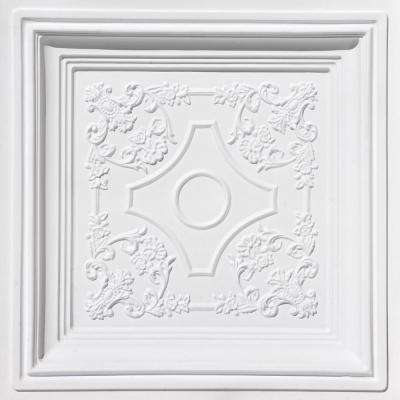 British Sterling 2 ft. x 2 ft. PVC Lay-In Ceiling Tile in White Matte