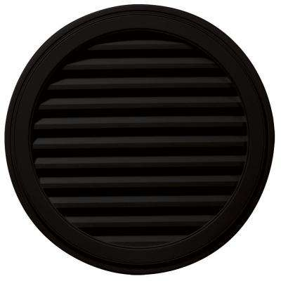 36 in. Round Gable Vent in Black