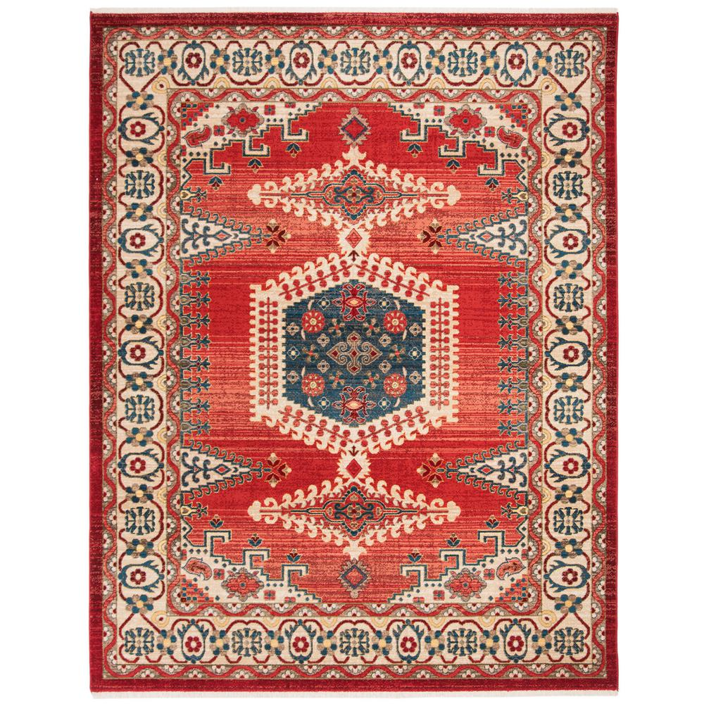 Safavieh Kashan Red/Ivory 8 ft. x 10 ft. Area Rug