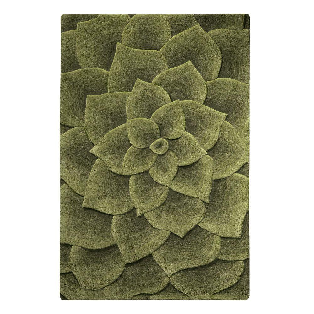 Home Decorators Collection Corolla Green 8 ft. x 11 ft. Area Rug