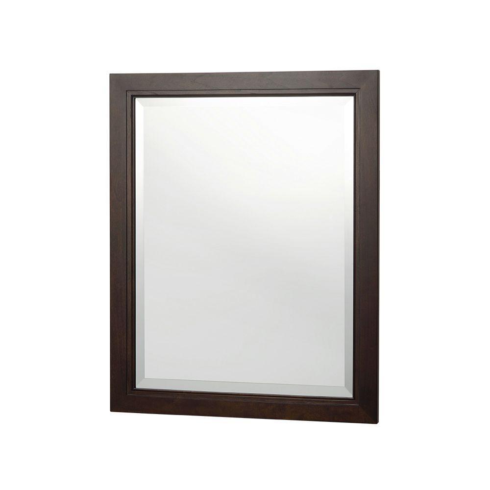Kelman 30 in. L x 24 in. W Framed Wall Mirror in Dark Walnut