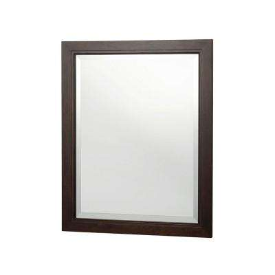 Kelman 30 in. L x 24 in. W Framed Wall Mirror in Dark Walnut