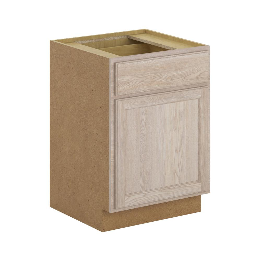 Assembled 24x34 5x24 In Drawer Base Kitchen Cabinet In: Hampton Bay Stratford Assembled 24x34.5x24 In. Oak Base