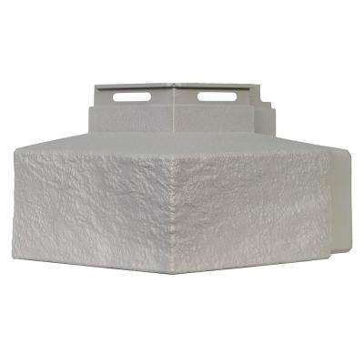 Ledge - 5 in. x 5.6 in. Premium Ledge in Mortar Gray - Corner (4-Corners per Box) Trim Plastic Siding