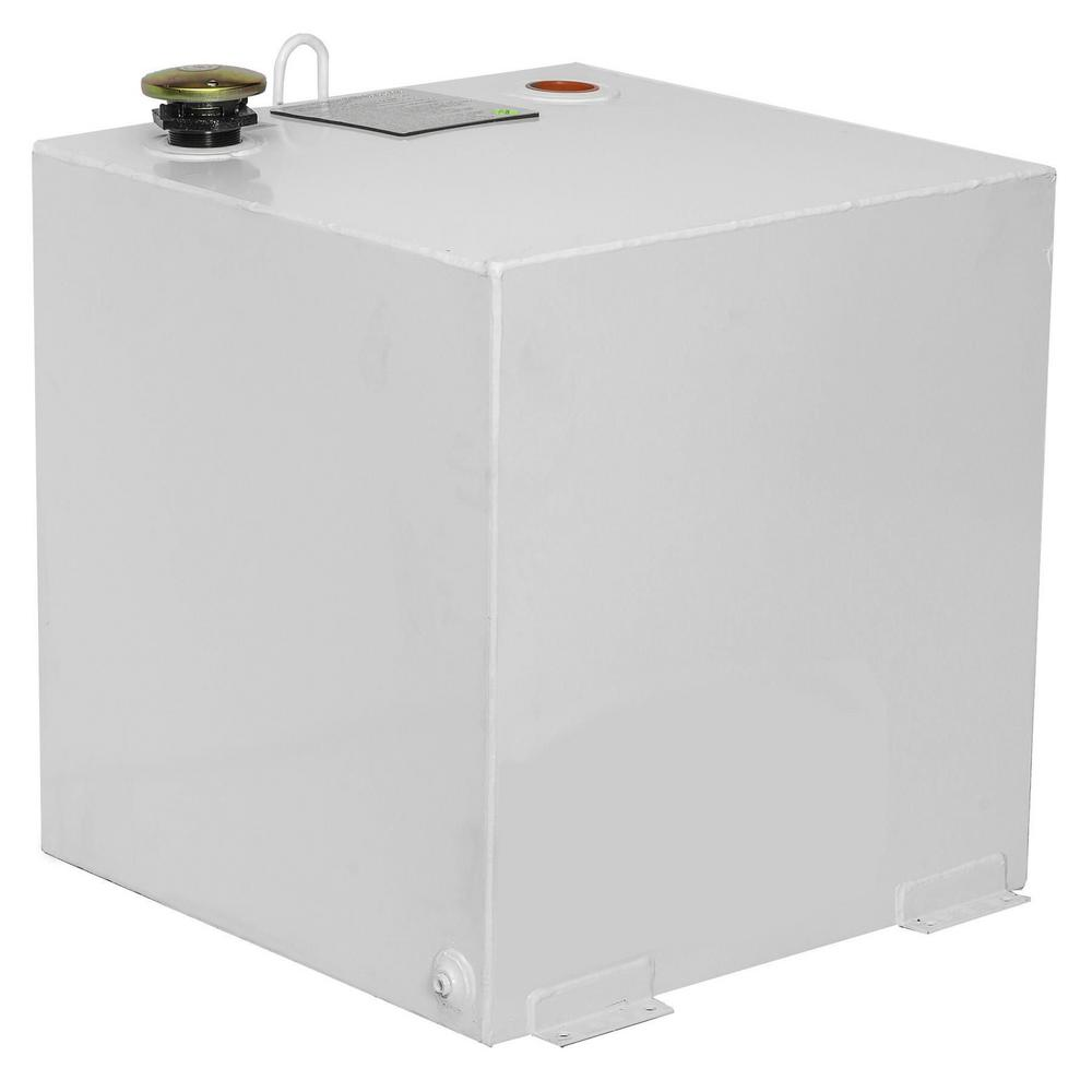 Delta Square Steel Liquid Transfer Tank in White