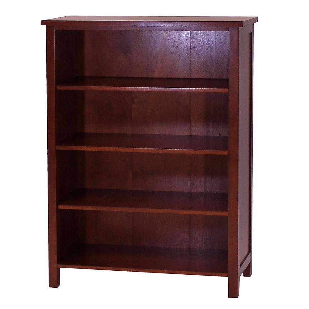 DonnieAnn Oakdale Cherry Open Bookcase