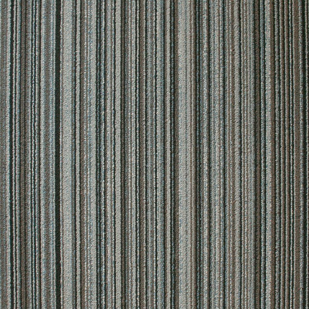 EuroTile Crown Heights Seabed Loop 19.7 in. x 19.7 in. Carpet Tile (20 Piece/Case)