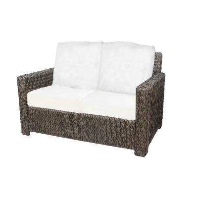 Laguna Point Brown Wicker Outdoor Patio Loveseat with Bare Cushions
