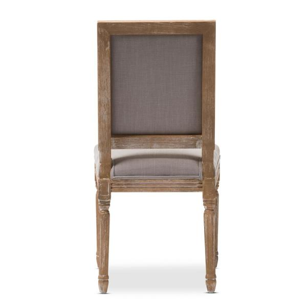 Terrific Baxton Studio Clairette Beige Fabric Upholstered Dining Gamerscity Chair Design For Home Gamerscityorg