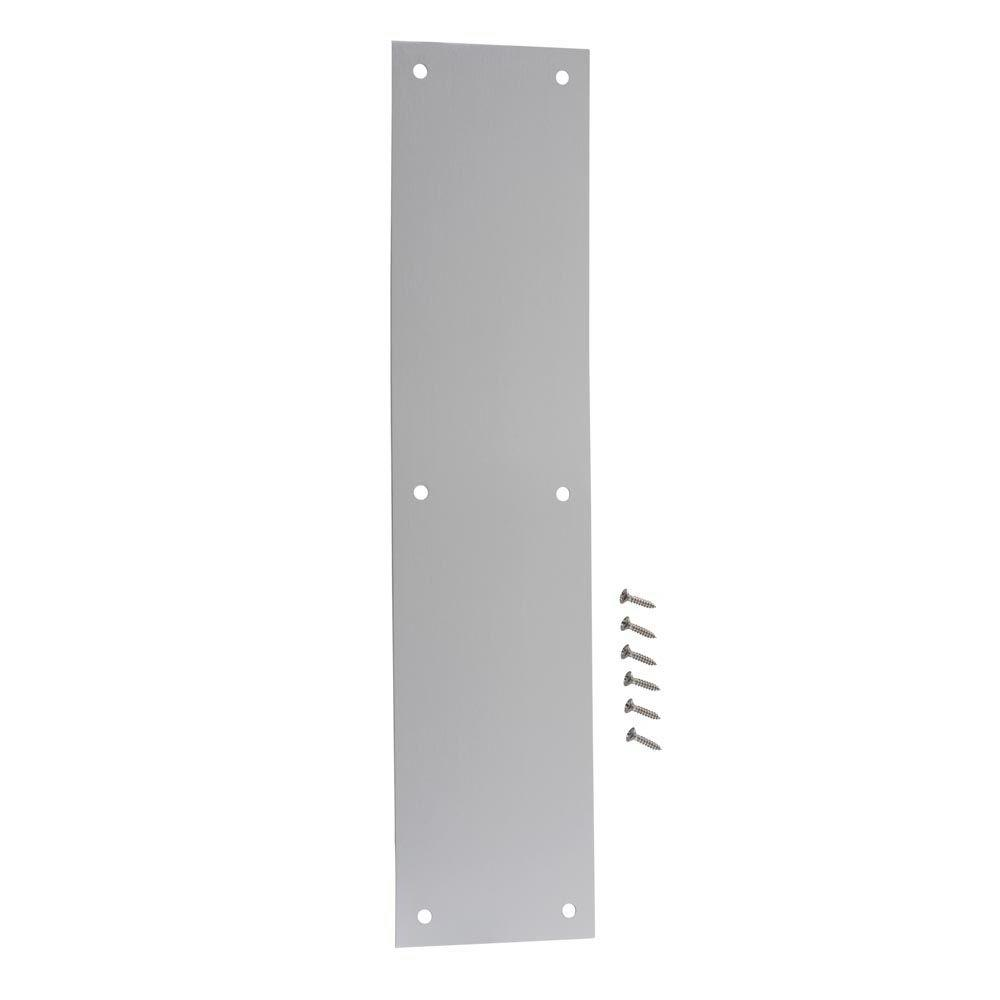 3-1/2 in. x 15 in. Satin Aluminum Push Plate