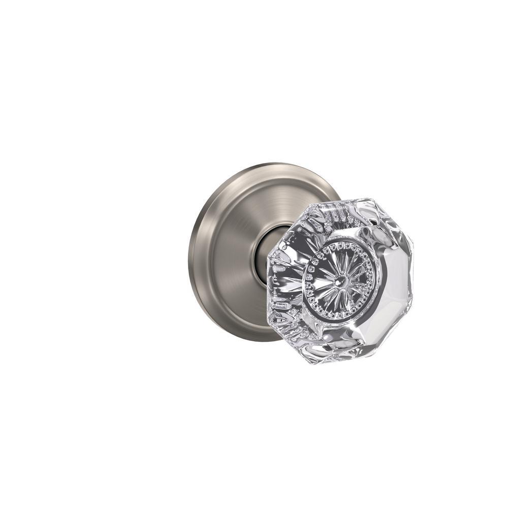 Schlage custom alexandria satin nickel alden trim combined - Satin nickel interior door knobs ...