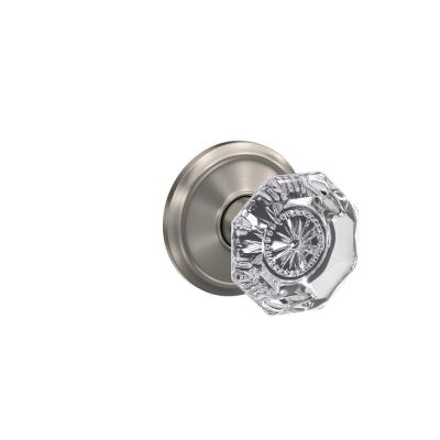 Custom Alexandria Satin Nickel Alden Trim Combined Interior Glass Door Knob