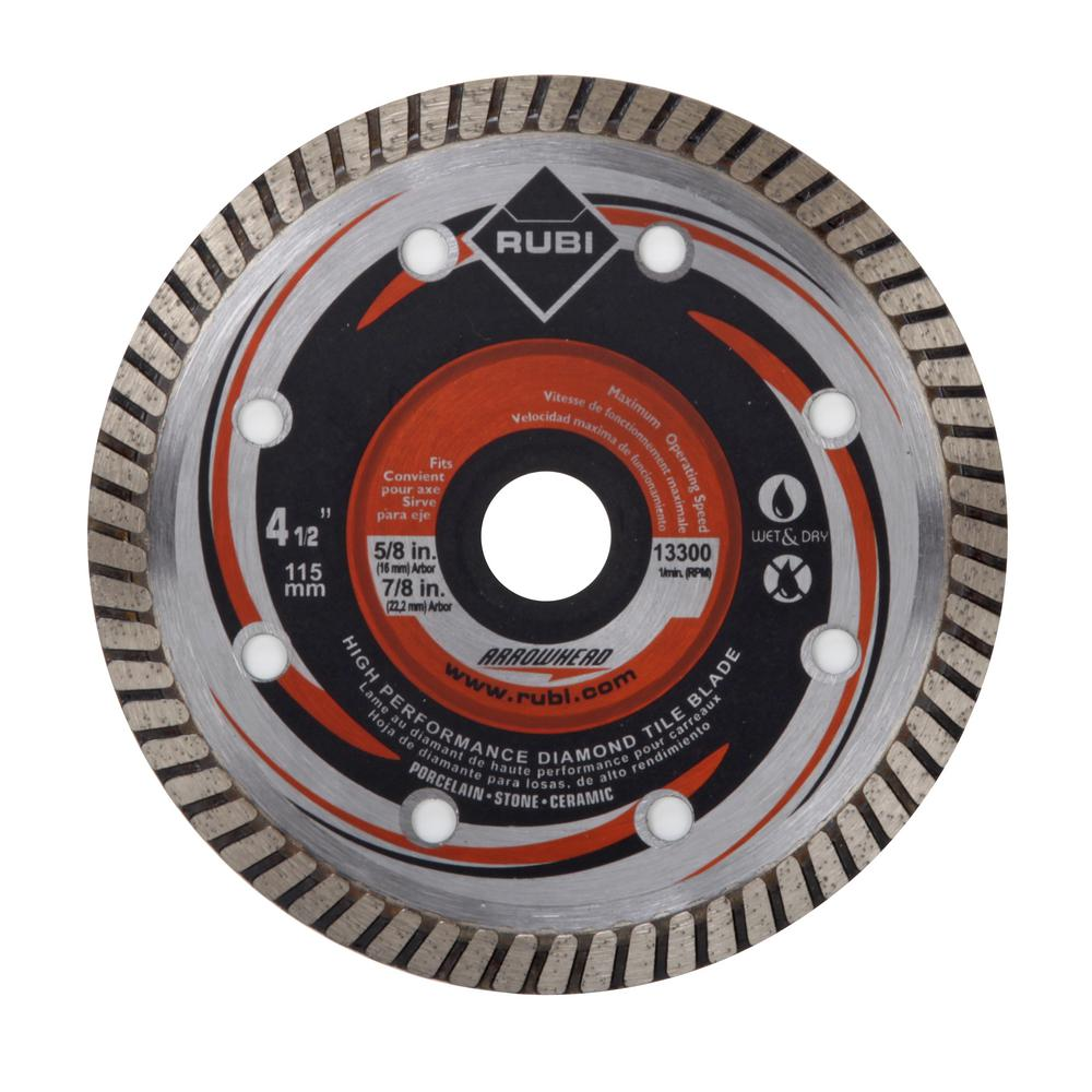Rubi 4.5 in. Premium Arrowhead Blade for Dry and Wet Cutting
