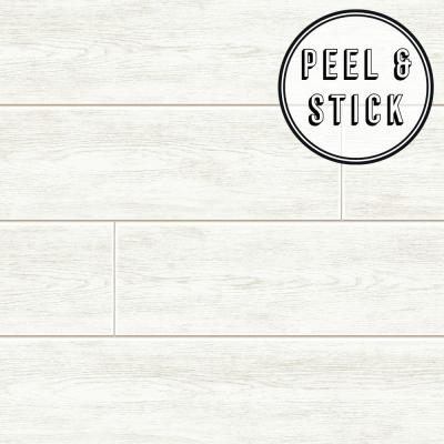 Transform White Wood Plank Peel and Stick Removable Wallpaper