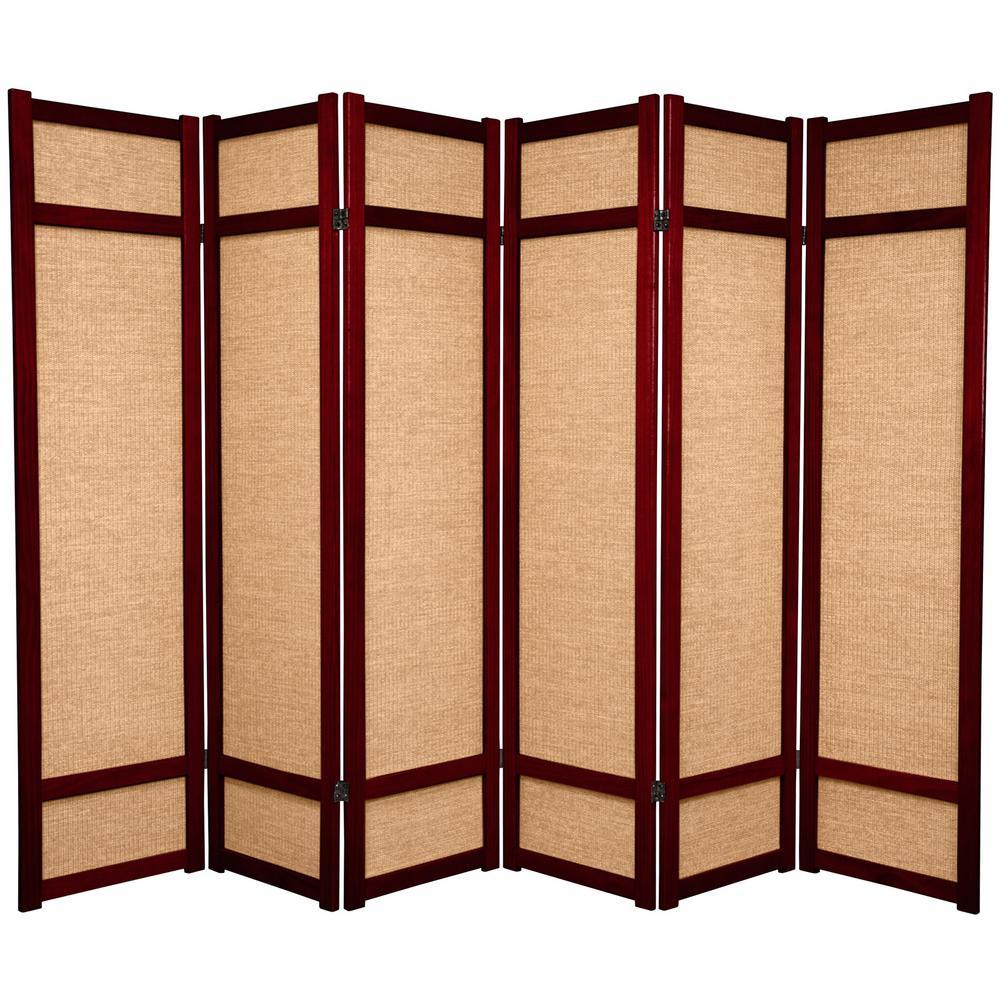6 ft rosewood 6 panel room divider jkshoji rwd 6p the for Photo screen room dividers