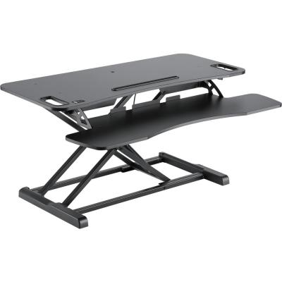 Black Ergonomic Sit-Stand Desktop Workstation
