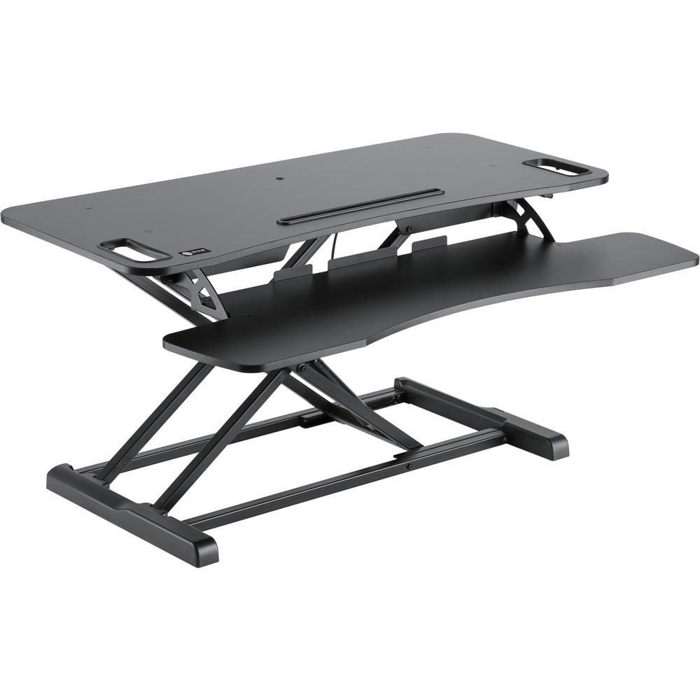 Black Ergonomic Sit-Stand Desktop Workstation