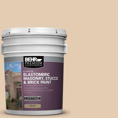 5 gal. #MS-14 Miami Peach Elastomeric Masonry, Stucco and Brick Exterior Paint