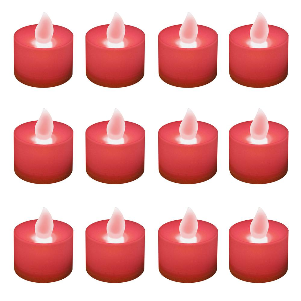 Lumabase Red Led Tealights Box Of 12