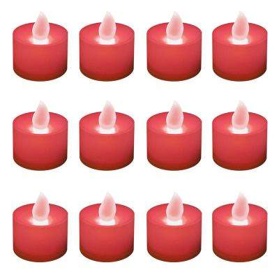 Red LED Tealights (Box of 12)