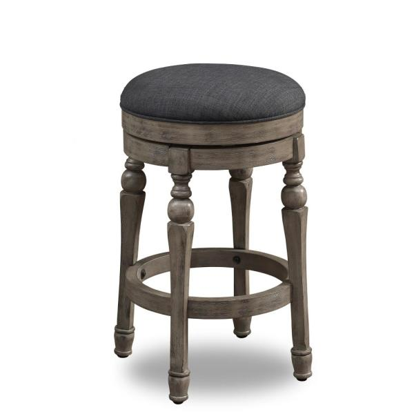 Maxwell 26 in. Sand Backless Swivel Counter Stool