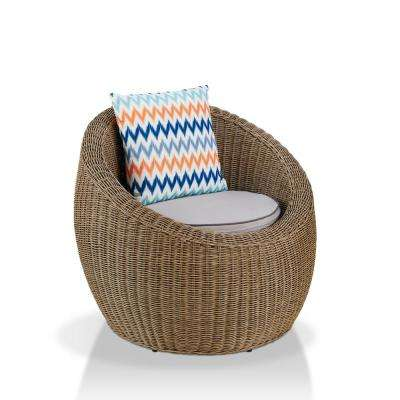 Gooding Natural Rattan Cushioned Accent Chair