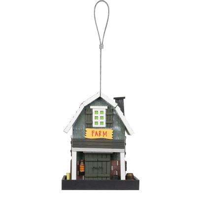 9 in. Tall Hanging Farm Store Bird Feeder