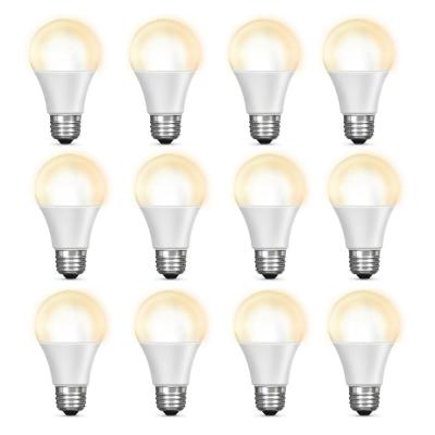 60-Watt Equivalent Soft White (2700K) A19 Dimmable Wi-Fi LED Smart Light Bulb (12-Pack)