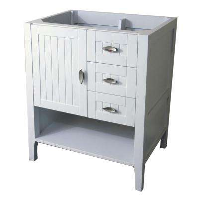 Bellevue 29.2 in. Bath Vanity Cabinet Only in White without Vanity Top
