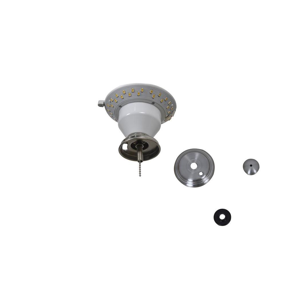 Transitional ceiling fan light kits ceiling fan parts the led brushed nickel ceiling fan replacement light kit aloadofball Image collections