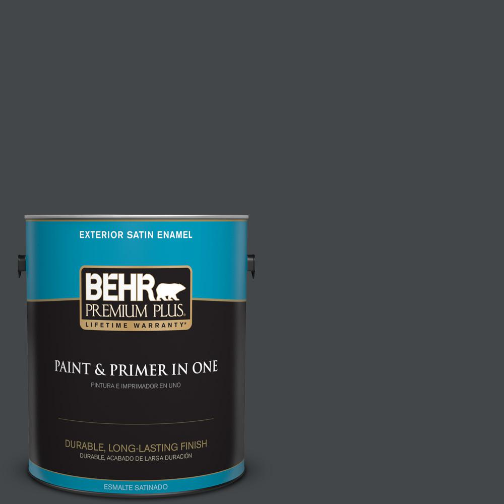 1 gal. #PPU24-23 Little Black Dress Satin Enamel Exterior Paint