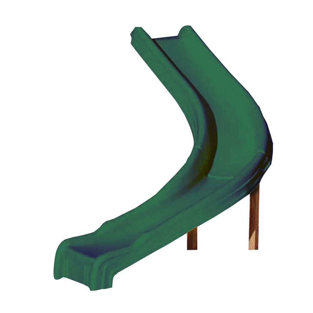 Swing N Slide Playsets Green Side Winder Slide Ne 4678 1hd