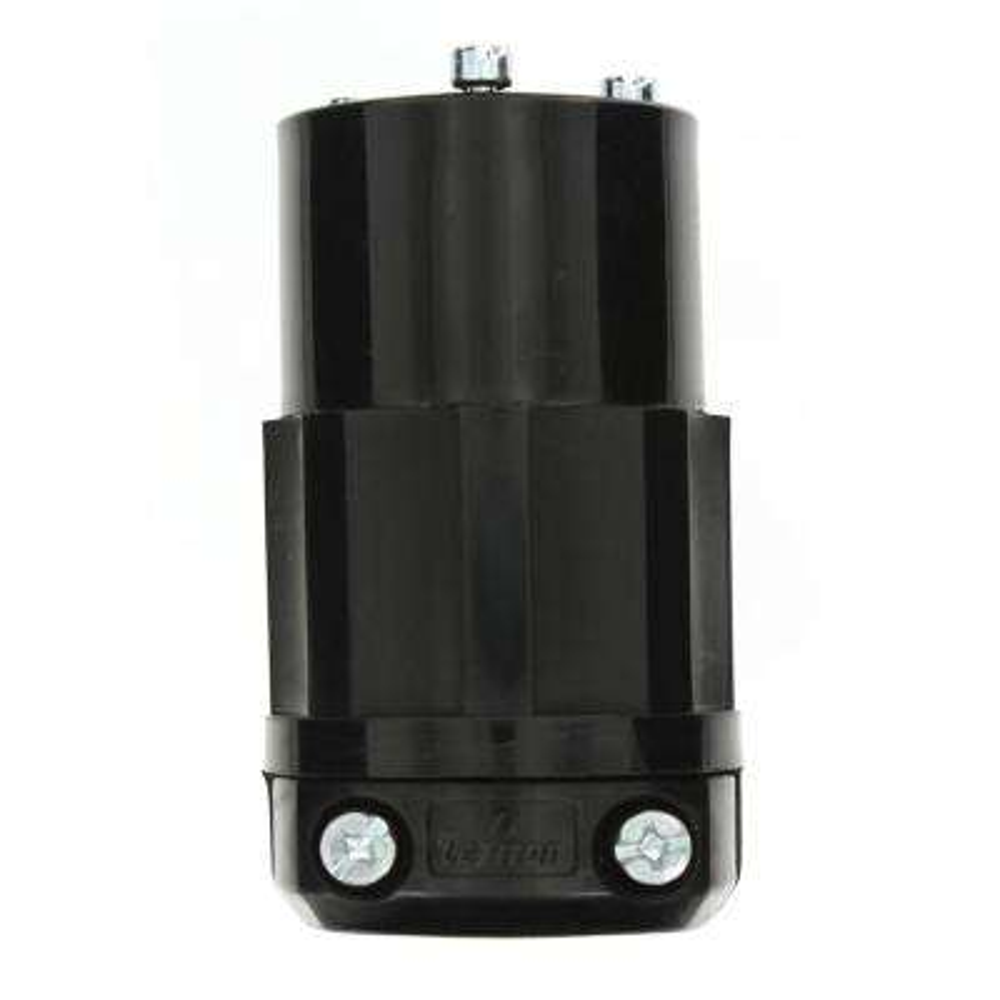 20 Amp 250-Volt Locking Grounding Connector, Black