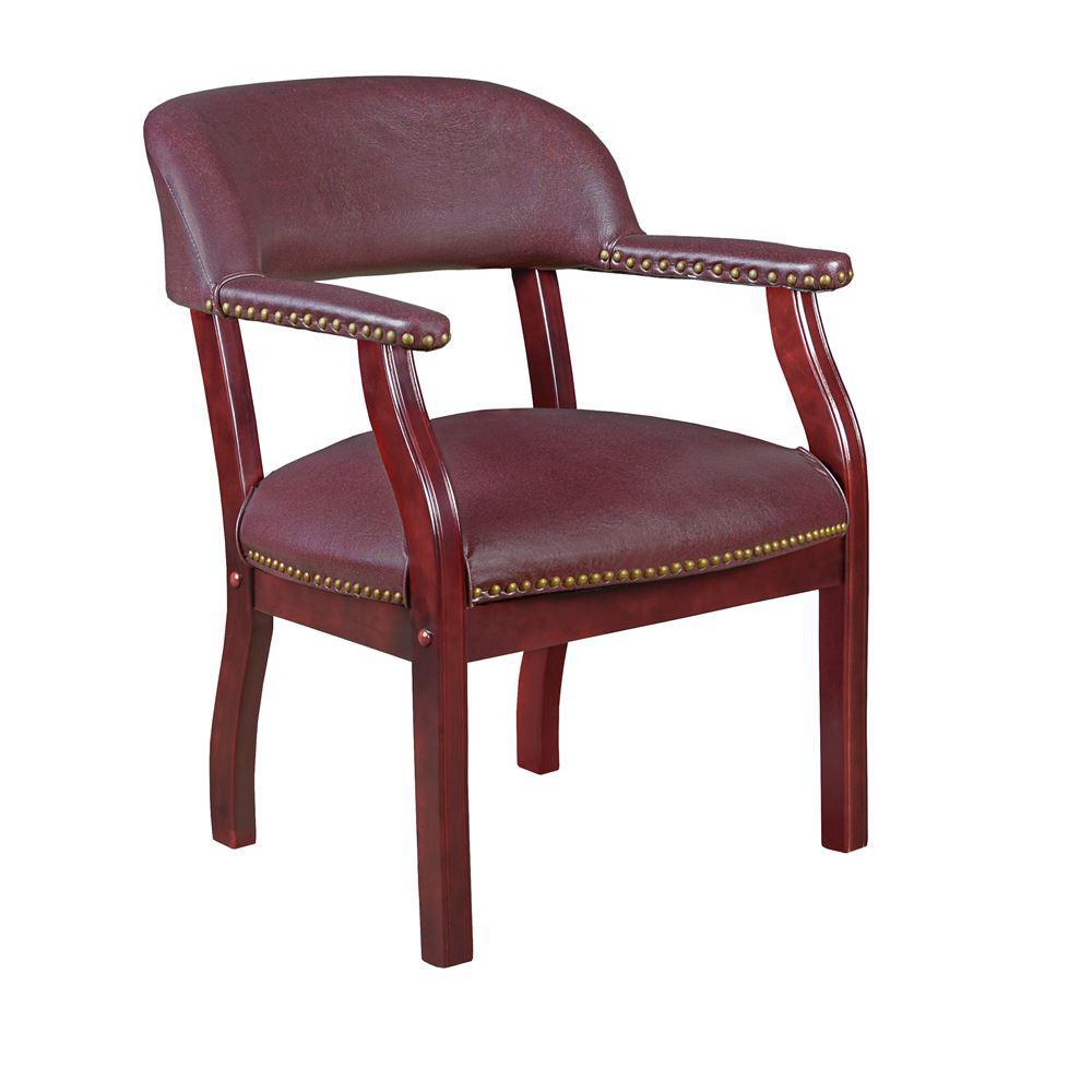 Burgundy 3-Tier Royal Chair