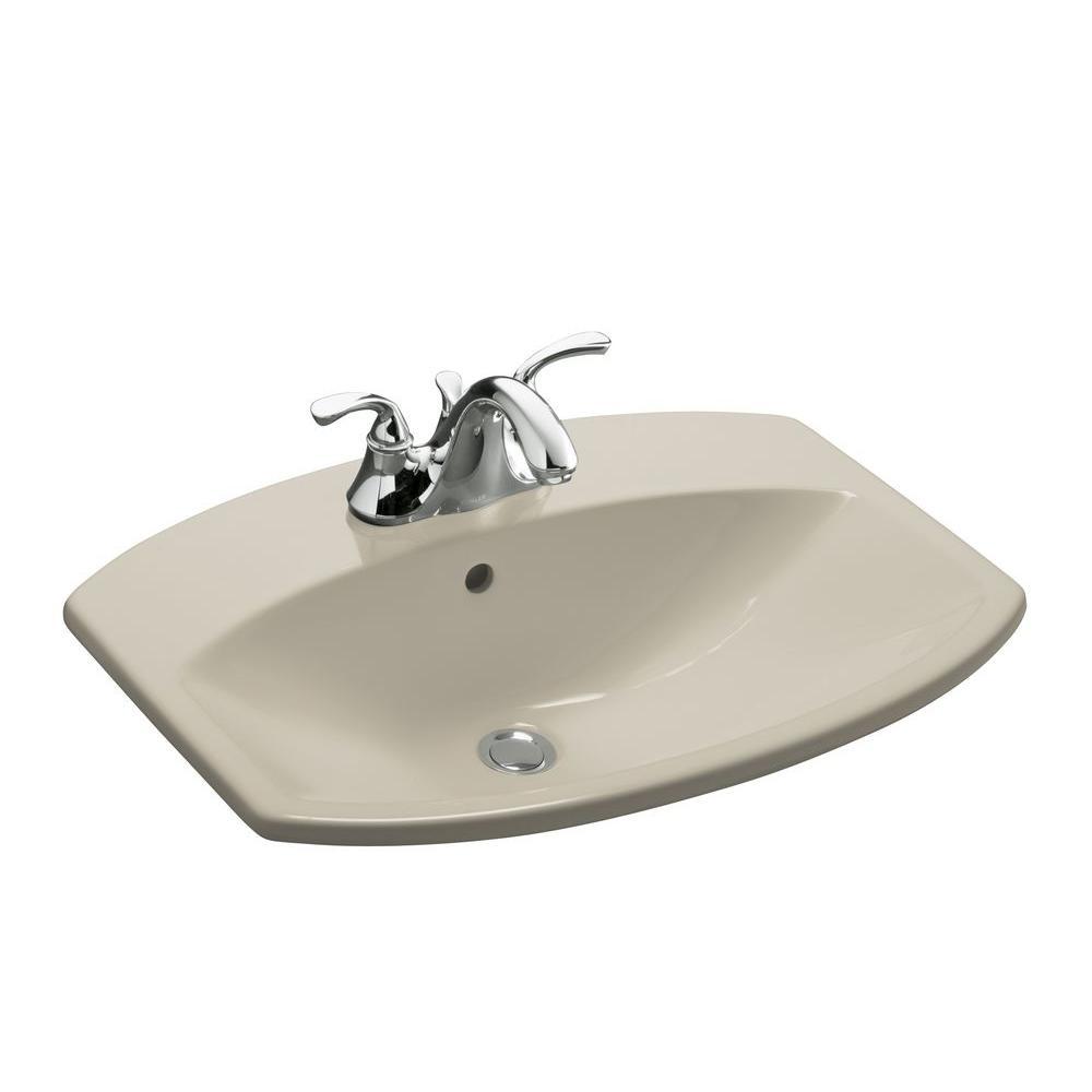 Cimarron Drop-In Vitreous China Bathroom Sink in Sandbar