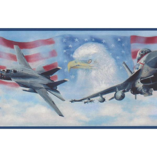 Chesapeake USA Air Force Jet Fighters American Flag Bald